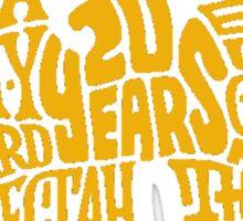 Text Music Anniversary Sticker