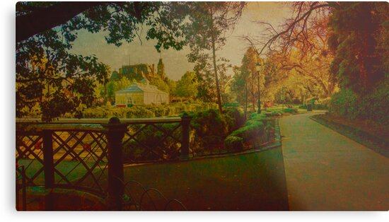 Oil on Canvas - Conservatory Gardens and Rosalind Park by sjphotocomau