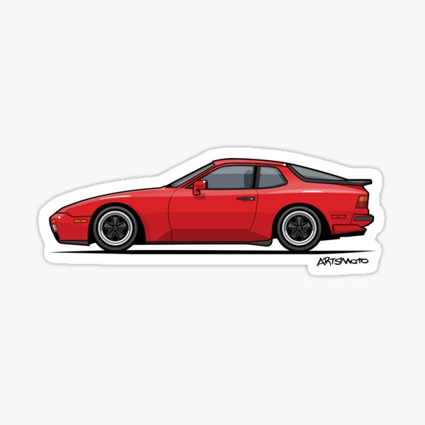 India Red 1986 P 944 951 Turbo (US spec) Sticker