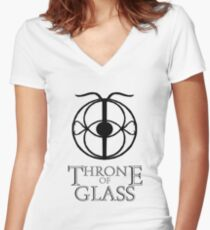 Throne of Glass - Eye of Elena Women's Fitted V-Neck T-Shirt