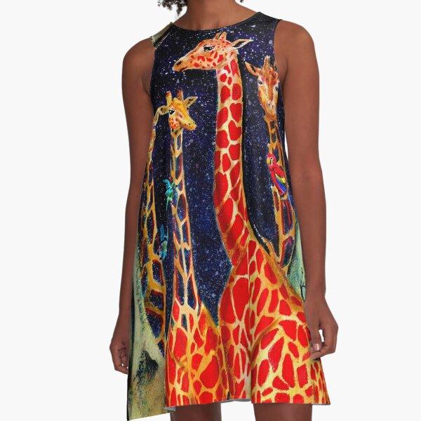 cave giraffes A-Line Dress