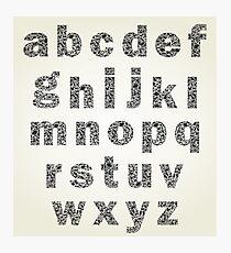 Animal alphabet Photographic Print