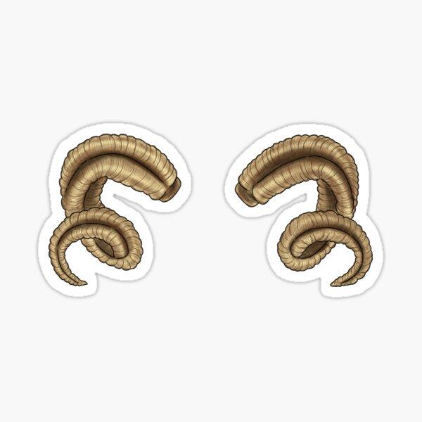 Ram Horns Sticker