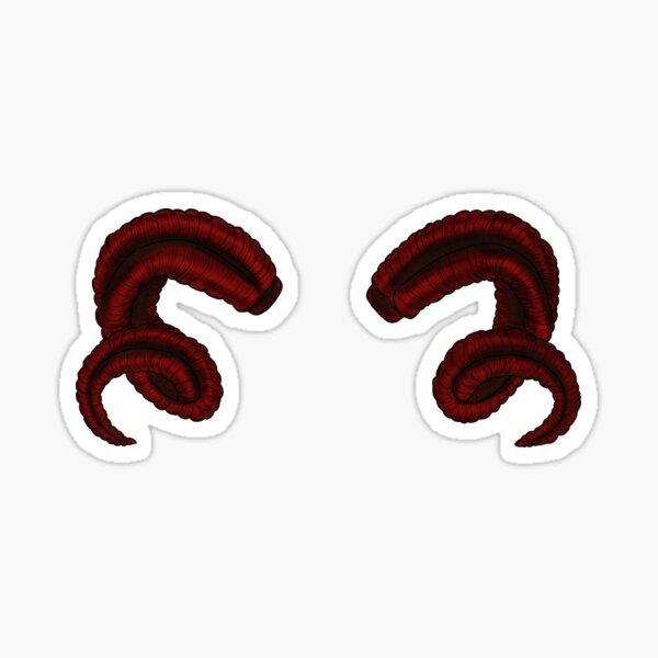 Demonic Horns Sticker