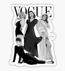 """""""VOGUE"""" Marilyn Monroe, Judy Garland, Audrey Hepburn & Elizabeth Montgomery Sticker"""