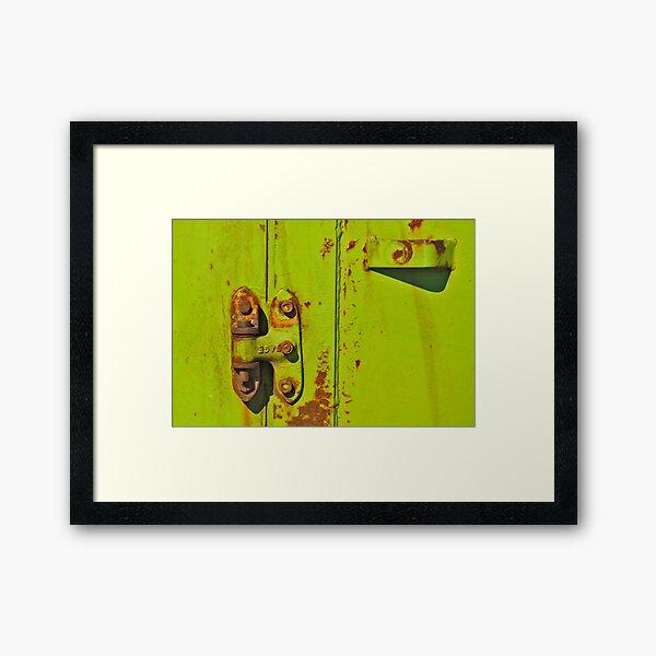 Lime Hinge Framed Art Print