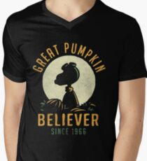 Great Pumpkin Believer Shirt Men's V-Neck T-Shirt