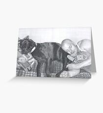 Man and his dog Greeting Card