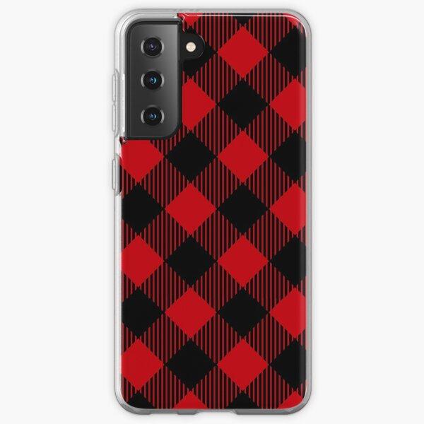 Buffalo Plaid Christmas Winter Pattern Samsung Galaxy Soft Case