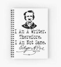 Cuaderno de espiral Soy escritor, Edgar Allen Poe