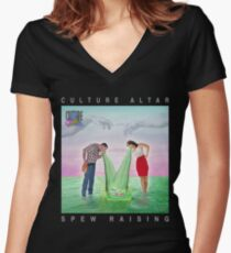 Spew Raising Women's Fitted V-Neck T-Shirt