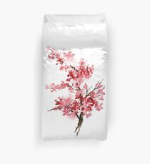 Flower Cherry Blossom Watercolor Painting Illustration Image Picture Duvet Cover