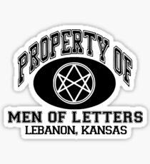 Property Of Men Of Letters, Supernatural Sticker