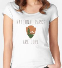 National Parks are Dope Women's Fitted Scoop T-Shirt