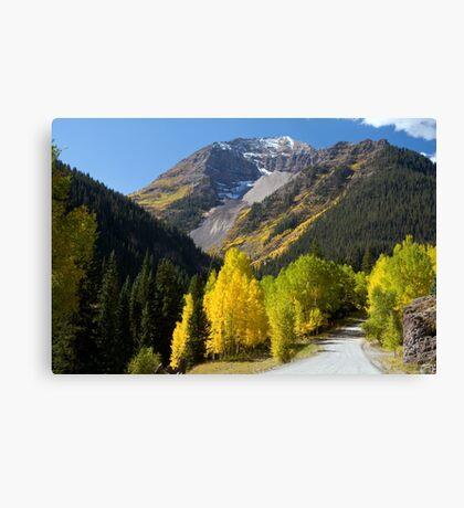 Camp Bird Mine Road Canvas Print