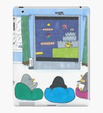 Penguins Playing Videogames iPad Case/Skin