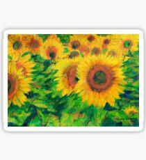 Arles Sunflowers Sticker