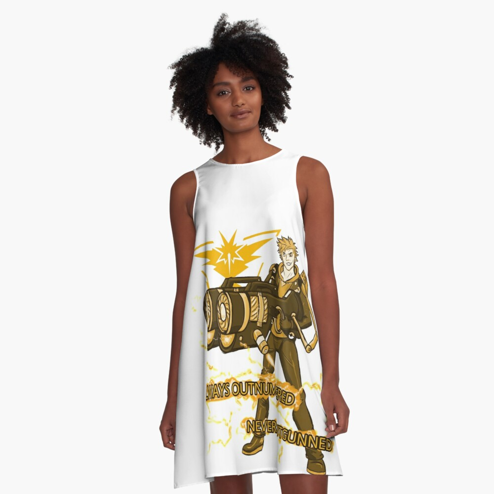 Always Outnumbered Never Outgunned A-Line Dress Front