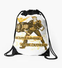 Always Outnumbered Never Outgunned Drawstring Bag