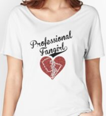 Professional Fangirl, Broken Heart Women's Relaxed Fit T-Shirt