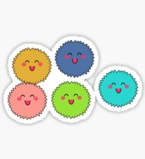 Little Cute Fuzzies (Fuzzy Balls) Sticker