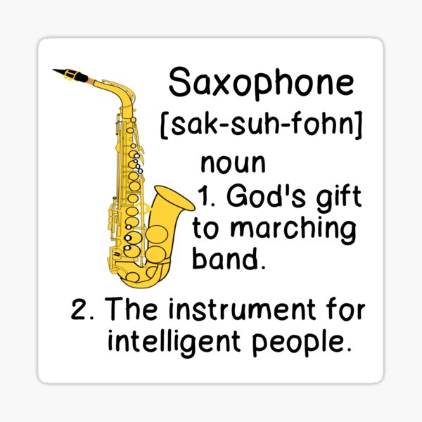 SAXOPHONE DEFINITION  Sticker