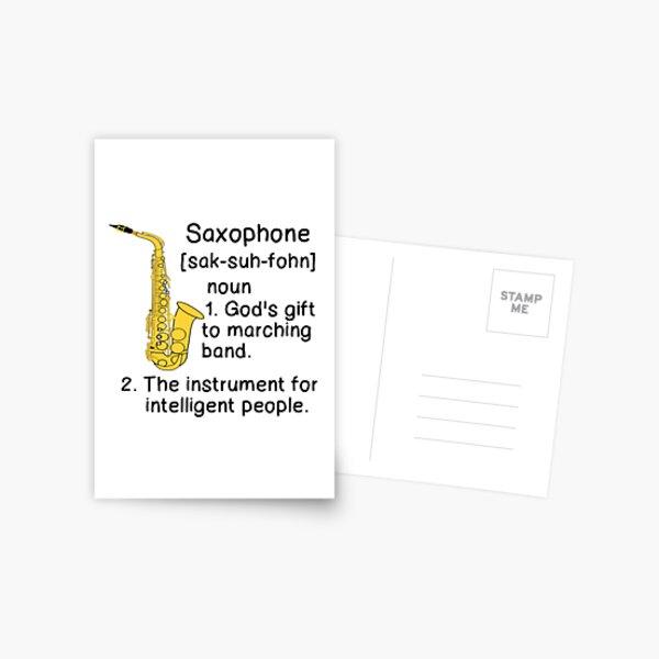 SAXOPHONE DEFINITION  Postcard