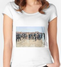 Smile for the camera!! Atlantic City, 1905 Women's Fitted Scoop T-Shirt