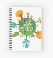 Save the Planet Spiral Notebook