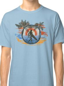 Surfing - Summer Sun and Palm Trees and Paint Brushes Classic T-Shirt