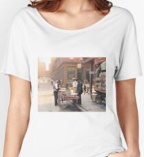 Clam seller on Mulberry Bend, New York, ca 1900 Relaxed Fit T-Shirt