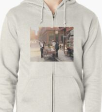 Clam seller on Mulberry Bend, New York, ca 1900 Zipped Hoodie