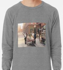 Clam seller on Mulberry Bend, New York, ca 1900 Lightweight Sweatshirt