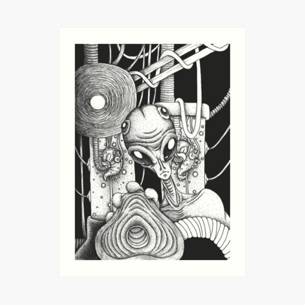 Alien experiment Art Print