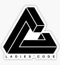 LADIES' CODE Triangle Logo (Black) Sticker