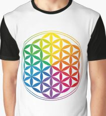 Flower Of Life, Sacred Geometry, Yoga Graphic T-Shirt