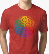 Flower Of Life, Sacred Geometry, Yoga Tri-blend T-Shirt