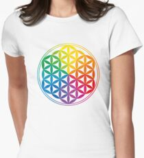 Flower Of Life, Sacred Geometry, Yoga Women's Fitted T-Shirt