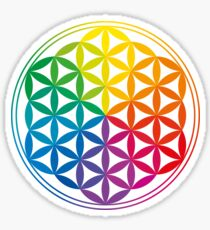 Flower Of Life, Sacred Geometry, Yoga Sticker
