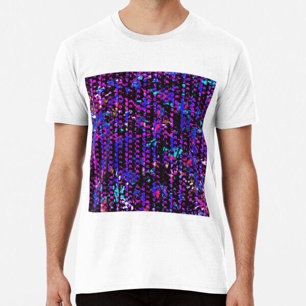 Violet, Purple and Blue Cool Pattern Premium T-Shirt