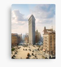 Flat Iron in New York City, ca 1903 colorized Metal Print