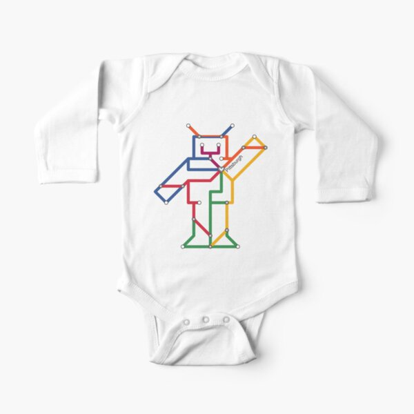Robot: Pittsburgh Long Sleeve Baby One-Piece