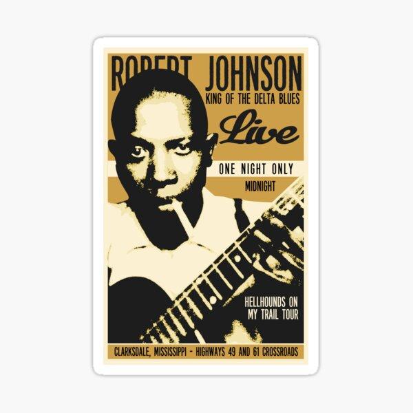 Robert Johnson Concert Poster Sticker