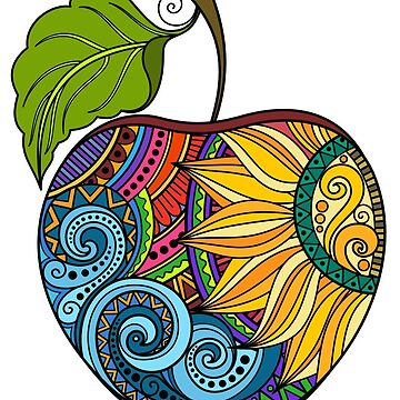 Rainbow apple mosaic  by Kerby664