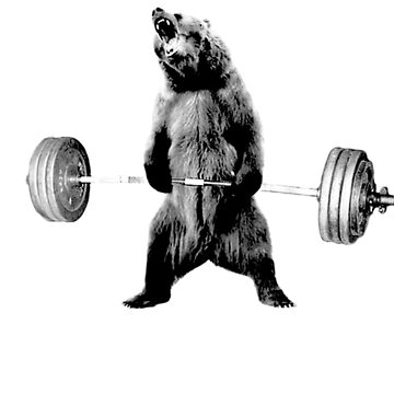 Grizzly Bear Deadlifting by obamashirts