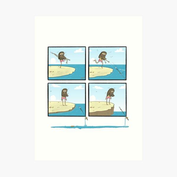 Island Guy Panel Comic Art Print