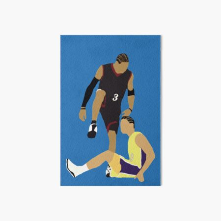 Allen Iverson Steps Over Tyronn Lue  Art Board Print