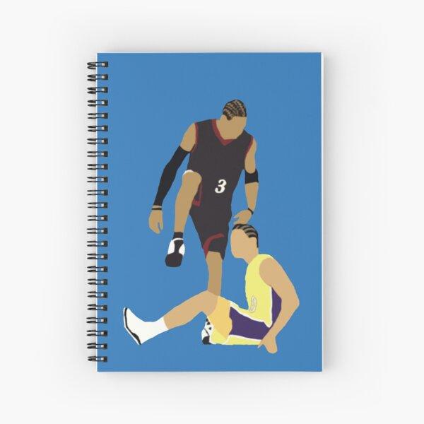 Allen Iverson Steps Over Tyronn Lue  Spiral Notebook