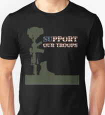 Support our Troops - Fallen Soldier Unisex T-Shirt