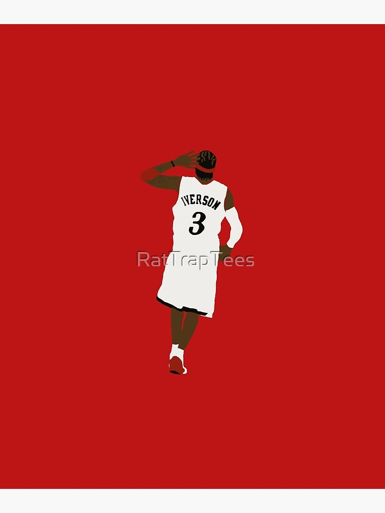 Allen Iverson Hand To Ear  by RatTrapTees